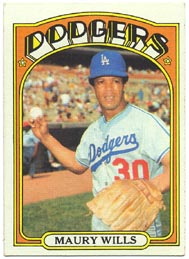 1972 Topps Baseball Cards      437     Maury Wills